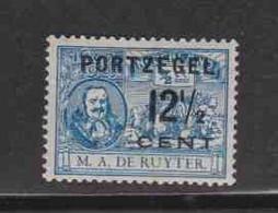 PAYS-BAS (timbres-taxe)  (Y&T) 1907 - N°35  *timbres-poste De 1907 Avec Portzegel *  12 1/2c Sur 1/2c  Neuf () - Postage Due