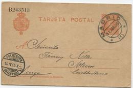 Ed 45. 1905, Entero Postal De Madrid A Suiza - 1850-1931