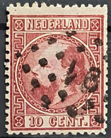 NETHERLANDS 1867/68 - Canceled - Sc# 8d - Perf. 13.5 X 14 - 10c - Gebraucht