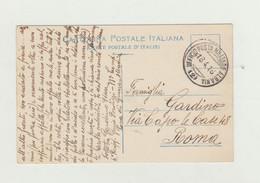 CAARTOLINA POSTALE IN FRANCHIGIA UFFICIO POSTA MILITARE ALBANIA DEL 1916 WW1 - Franchigia