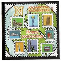 Kazakhstan 2020 . Happy Postcrossing. 1v: N - Kazakhstan