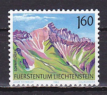 Liechtenstein, 1992, Mountains/Schwarzhorn, 1.60Fr, MNH - Unused Stamps