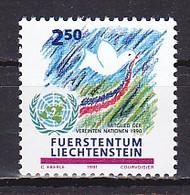 Liechtenstein, 1991, Admission To United Nations/UN, 2.50Fr, MNH - Unused Stamps