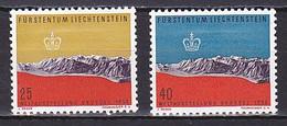 Liechtenstein, 1958, Brussels International Exhib, Set, UNUSED PENCIL ON GUM - Unused Stamps