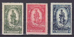 Liechtenstein, 1920, Prince Johann II 80th Birthday, Set, UNUSED PENCIL ON GUM - Unused Stamps