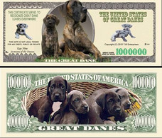 !!! USA - FANTASY NOTE -  THE  GREAT DANE  DOG , 2010 - UNC / SERIES  WOOF - Other