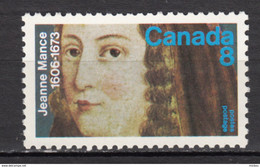 Canada, MNH, 1973, Sc 615, Jeanne Mance, Première Infirmière De Nouvelle-france, First Nurse Of Canada, Religieuse, - Neufs