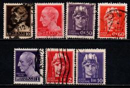 ITALIA LUOGOTENENZA - 1945 - IMPERIALE SENZA FASCI - SENZA FILIGRANA - USATI - Usados