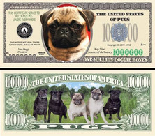 !!! USA - FANTASY NOTE -  PUG  DOG , 2011 - UNC / SERIES  WOOF - Other