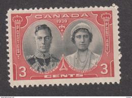 Canada, MNH, 1939, Sc 248, Roi George VI Et Reine Élizabeth, King, Queen, Bijoux, Jewels - Nuevos