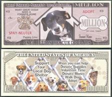 !!! USA - FANTASY NOTE -  DOG  RESCUE  MILLION , 2012 - UNC - Other