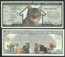 !!! USA - FANTASY NOTE -  CAT  RESCUE  MILLION , 2012 - UNC - Other