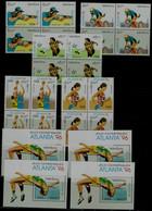 LAOS 1996 SUMMER OLYMPICS GAMES ATLANTA BLOCK OF 4+4 BLOCKS MI No 1498-502+BLOCK 156 MNH VF!! - Sommer 1996: Atlanta