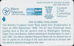 Isle Of Man - GPT, Global Challenge Yacht Race, Demo Without Chip & CN, 1996, Unused - Isla De Man