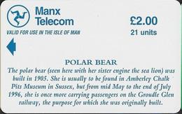 Isle Of Man - GPT, Steam Locomotives Polar Bear & Sea Lion, Demo Without Chip & CN, 1996, Unused - Isla De Man