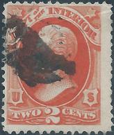 Stati Uniti D'america,United States,U.S.A,1873 Department Of The Interior 2c Vermillion Used - Service