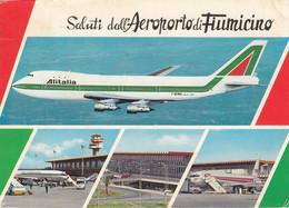 AEROPORTO-AIRPORT-AEROPORT-FLUGHAFEN- FIUMICINO-ROMA-ITALY- CARTOLINA VERA FOTOGRAFIA- VIAGGIATA  IL 5-8-1974 - Aerodromes
