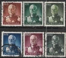 Portugal   1945   6 Diff Including Sc#651, 655-7   30c/35c/50c/1.75e/2e/3.50e Carmona  Used   2016 Scott Value $17.25 - Used Stamps