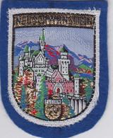 Ecusson Tissu - Allemagne - Neuschwanstein - Château - Blason - Armoiries - Héraldique - Patches