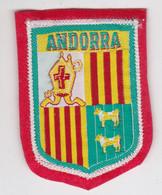 Ecusson Tissu - Andorra - Andorre - Blason - Armoiries - Héraldique - Patches