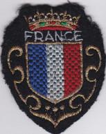 Ecusson Tissu - France - Couronne - Blason - Armoiries - Héraldique - Patches
