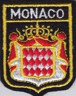 Ecusson Tissu - Monaco - Blason - Armoiries - Héraldique - Patches