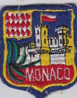 Ecusson Tissu - Monaco - Palais Princier - Blason - Armoiries - Héraldique - Patches