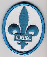 Ecusson Tissu - Canada - Québec - Drapeau - Blason - Armoiries - Héraldique - Patches