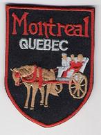 Ecusson Tissu - Canada - Montréal - Québec - Blason - Armoiries - Héraldique - Patches