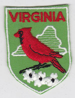 Ecusson Tissu - USA - Virginia - Blason - Armoiries - Héraldique - Oiseau - Patches