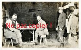CARTE PHOTO FRANCAISE - POILUS DU 322e RIT AU CAMP OTTAWA A PLAILLY PRES DE SENLIS - CHANTILLY OISE - GUERRE 1914 1918 - Guerra 1914-18