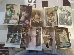 Lot 500 Cpa Fantaisie Enfants Femme Couple... - 500 Postcards Min.