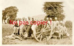 CARTE PHOTO FRANCAISE 322 RIT  POILUS ET CANON HS A FRAMERVILLE PRES DE HERLEVILLE - PROYART SOMME 1916 GUERRE 1914 1918 - Guerra 1914-18
