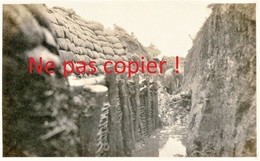 CARTE PHOTO FRANCAISE 322 RIT  UNE TRANCHEE BOUEUSE A HERLEVILLE PRES DE FRAMERVILLE - PROYART SOMME - GUERRE 1914 1918 - Guerra 1914-18