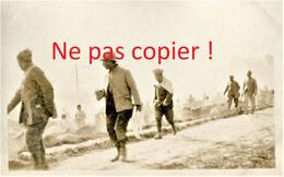 CARTE PHOTO FRANCAISE 322 RIT - POILUS A MORCOURT PRES DE CERISY - PROYART SOMME - GUERRE 1914 1918 - Guerra 1914-18