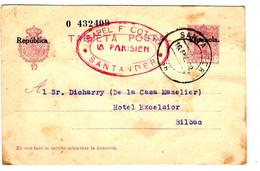 43936 - Entier  Avec Surcharge - 1931-50 Cartas