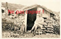 CARTE PHOTO FRANCAISE 322 RIT - LE LIEUT. BESSON A BRAY SUR SOMME PRES DE MEAULTE - ALBERT SOMME - GUERRE 1914 1918 - Guerra 1914-18