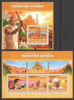 ST1363 2013 GUINEE GUINEA 65TH ANNIVERSARY DEATH OF GANDHI MAHATMA GANDHI KB+BL MNH - Mahatma Gandhi