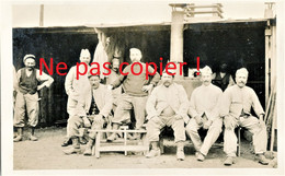 CARTE PHOTO FRANCAISE - POILUS ET CUISINE ROULANTE AU CAMP LES BUTTES PRES DE BRAY SUR SOMME - GUERRE 1914 1918 - Guerra 1914-18