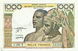 Togo - 1000 Francs - ND ( 1959-1965 ) - P 803 Tn - Serie V.195 T - West African States - Togo