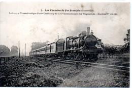 LES CHEMINS DE FER FRANCAIS   OUEST ETAT LE 8103  TRANSATLANTIQUE PARIS CHERBOURG              CARTE SALE - Treni