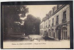 9413. CHATEAU DE L HAY LES ROSES . FACADE SUR LE PARC  . RECTO/VERSO .   ANIMEE . - L'Hay Les Roses