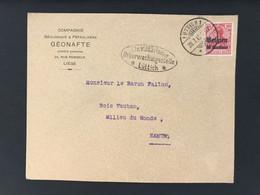 Briefomslag OC3 LUTTICH 1 Ctr. Militärische Ueberwachungsstelle Lüttich - [OC1/25] Gen.reg.