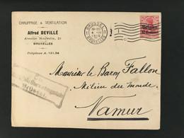 Briefomslag OC3 Brussel 1 Bruxelles Ctr. Militärische Uberwachungsstelle Brussel - [OC1/25] Gen.reg.