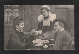 CONCARNEAU  Partie De Cartes 2 Homme 1 Femme  Corres 1918   ( TTB ETAT) Y_ 405 - Concarneau