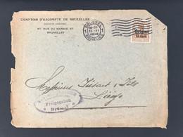 Briefomslag OC15 BRUSSEL 1 - Militärische Uberwachungsstelle Bank ... Freigegeben Brussel - [OC1/25] Gen.reg.