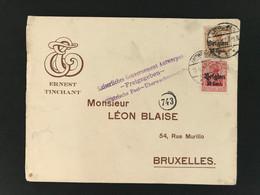 Briefomslag OC14+15 ANTWERPEN 1 - Kaiserliches Gouvernement Antwerpen - Freigegeben - [OC1/25] Gen.reg.