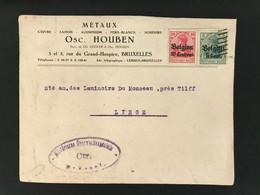 Briefomslag OC2+3 Militärische Uberwachungsstelle BRUSSEL - [OC1/25] Gen.reg.