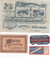 DIJON MEURSAULT Moutarde Pierre JACQUEMIN Lot D'archives - Unclassified