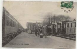 50- 10819   -   FOLLIGNY      -     La Gare , Le Quai Principal 1912 - Other Municipalities